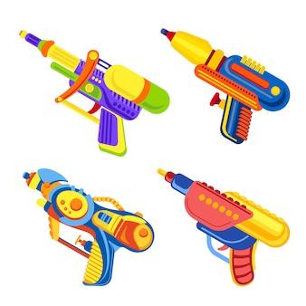 Conjunto de iconos de pistola de agua