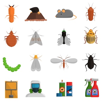 Conjunto de iconos de plagas