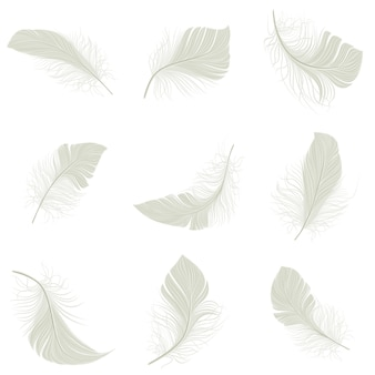 Conjunto de iconos de pluma