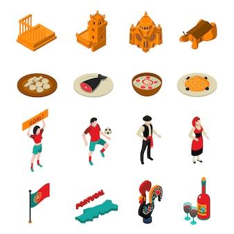 Conjunto de iconos de portugal
