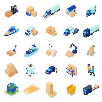 Conjunto de iconos postales