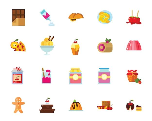 Conjunto de iconos de postres