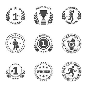 Conjunto de iconos de primer lugar
