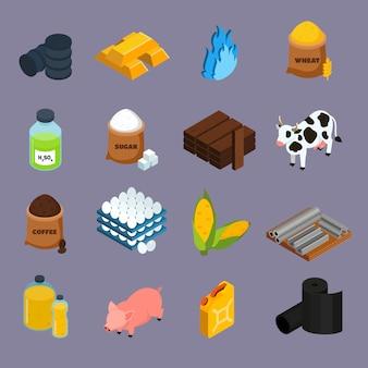 Conjunto de iconos de productos básicos
