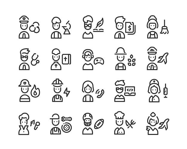 Conjunto de iconos de profesión