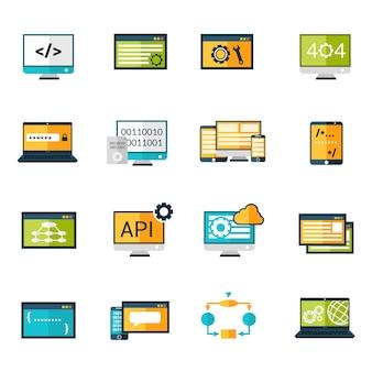 Conjunto de iconos de programación