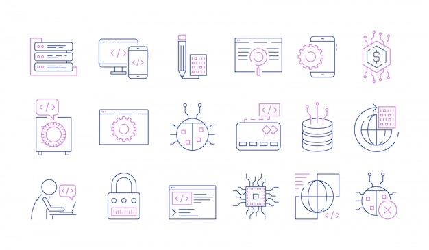 Conjunto de iconos de programador