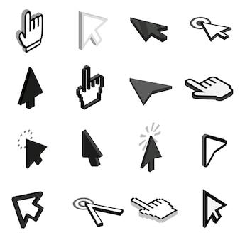 Conjunto de iconos de puntero del mouse