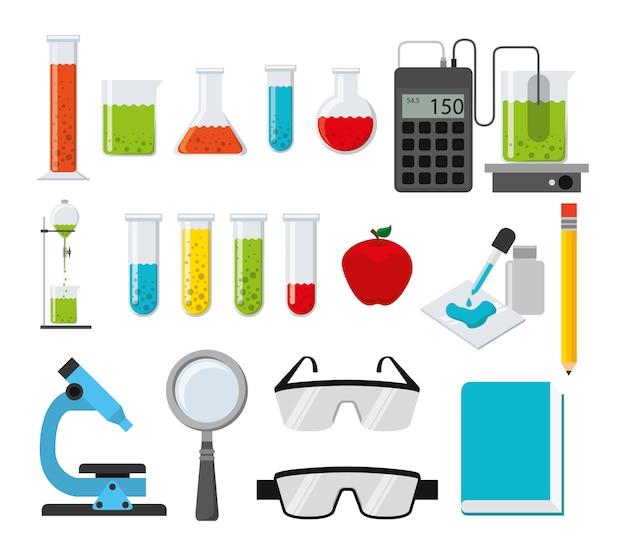 Conjunto de iconos de química