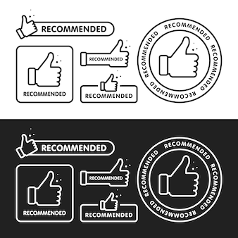 Conjunto de iconos recomendado.