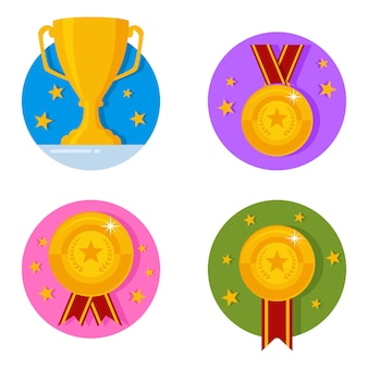 Conjunto de iconos de recompensas
