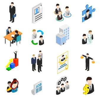 Conjunto de iconos de recursos humanos