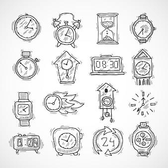 Conjunto de iconos de reloj