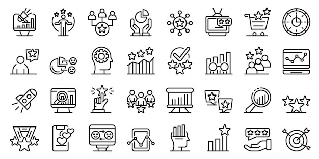 Conjunto de iconos de reputación