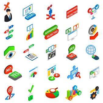 Conjunto de iconos de respuesta