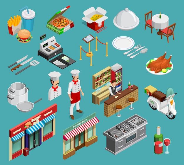 Conjunto de iconos de restaurante