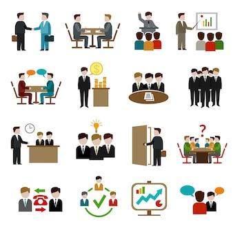 Conjunto de iconos de reunión