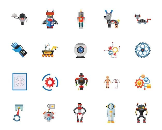 Conjunto de iconos de robots
