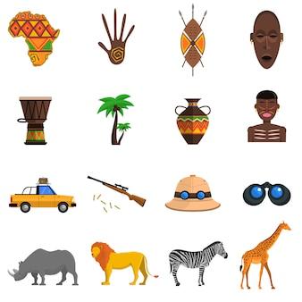 Conjunto de iconos de safari