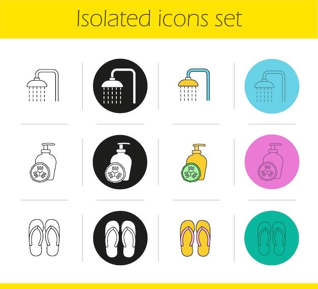 Conjunto de iconos de salón spa