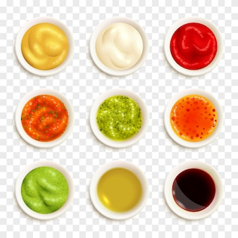 Conjunto de iconos de salsa