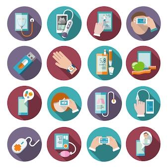 Conjunto de iconos de salud digital