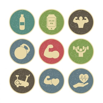 Conjunto de iconos de salud