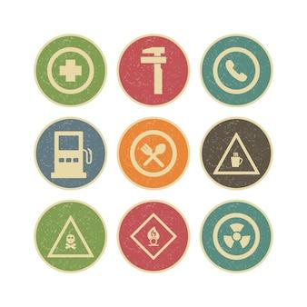 Conjunto de iconos de señales de tráfico para uso personal y comercial