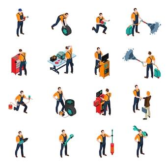 Conjunto de iconos de servicio de coche