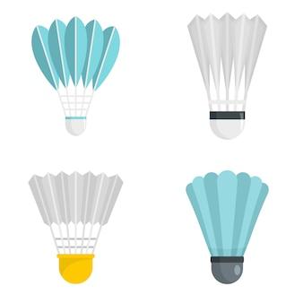 Conjunto de iconos de shuttlecock