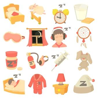 Conjunto de iconos de símbolos para dormir