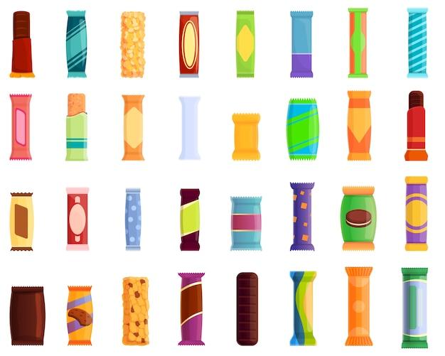 Conjunto de iconos de snack bar. iconos de snack bar