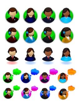 Conjunto de iconos de soporte en línea