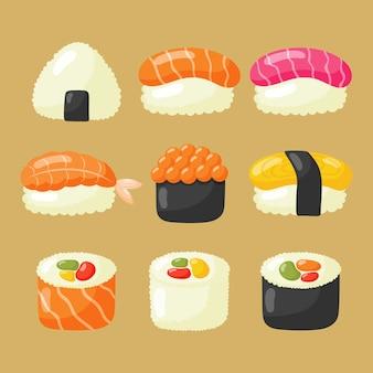 Conjunto de iconos de sushi