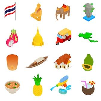 Conjunto de iconos de tailandia