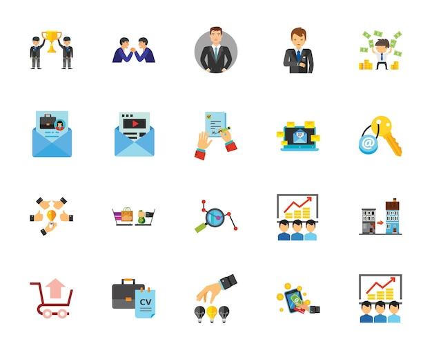 Conjunto de iconos de teambuilding