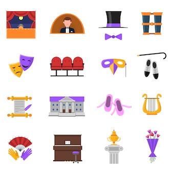 Conjunto de iconos de teatro