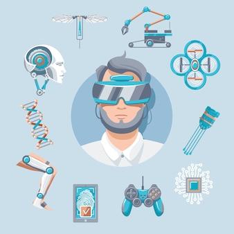 Conjunto de iconos de tecnología
