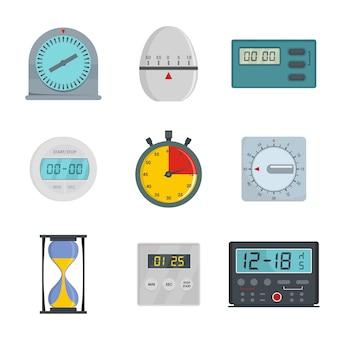 Conjunto de iconos de temporizador de cocina