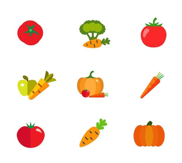 Conjunto de iconos de tienda de comestibles