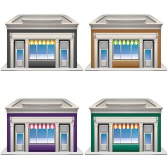 Conjunto de iconos de tienda.