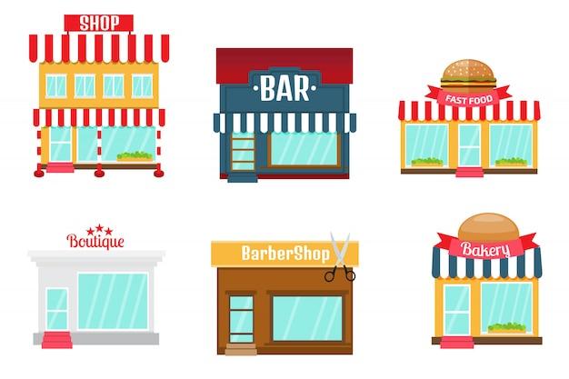 Conjunto de iconos de tiendas