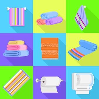 Conjunto de iconos de toalla.