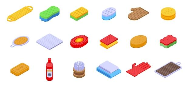Conjunto de iconos de toallita