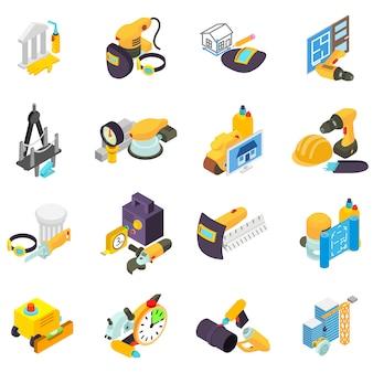Conjunto de iconos de trabajo de hombre