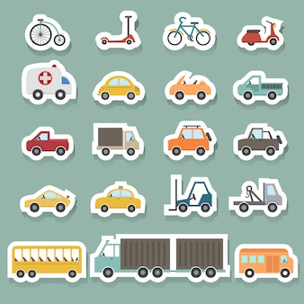 Conjunto de iconos de transporte