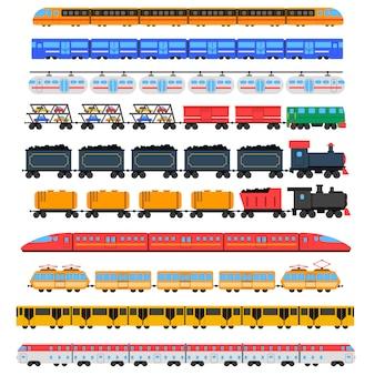 Conjunto de iconos de tren