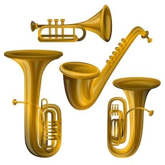 Conjunto de iconos de trompeta.