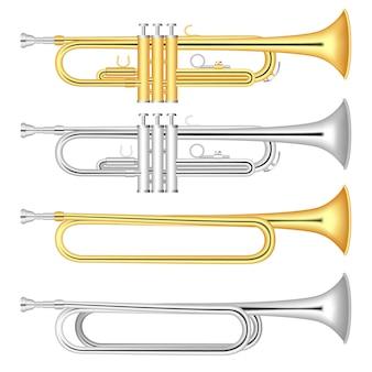 Conjunto de iconos de trompeta