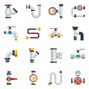 Conjunto de iconos de tuberías
